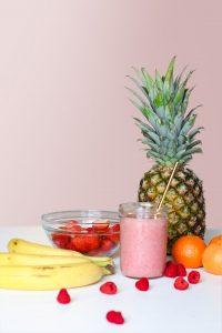 frozen banana berry smoothie