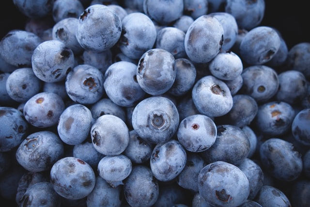 bulk lot of frozen blueberries